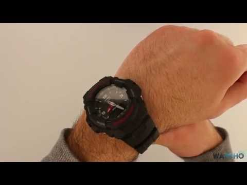 Casio G-Shock Black Chronograph Dual Display Watch G-100-1BVMUR - Hands On Review