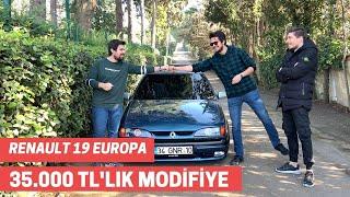 RENAULT 19 EUROPA INCELEME | 35 BİN TL ' LİK MODİFİYE !