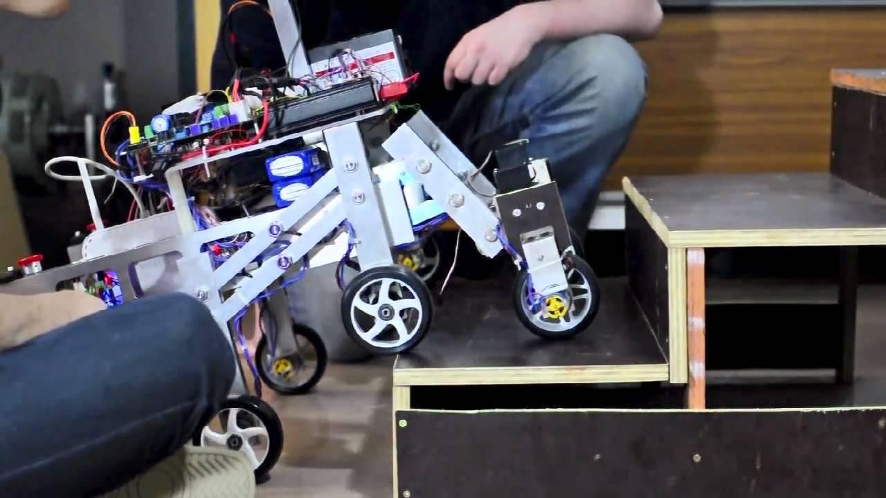 heriot watt eps mechanical engineering stair climbing robot shrimp 2011 youtube