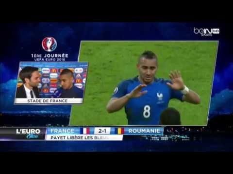 Euro 2016   France VS Roumanie   Interview après match de Dimitri Payet   from YouTube
