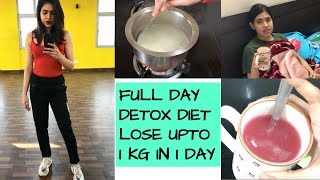 DETOX DIET for weight loss One day detox meal plan | Lose upto 4 kgs in 1 month