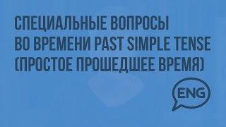 Специальные вопросы во времени Past Simple Tense (простое прошедшее время). Видеоурок по английскому
