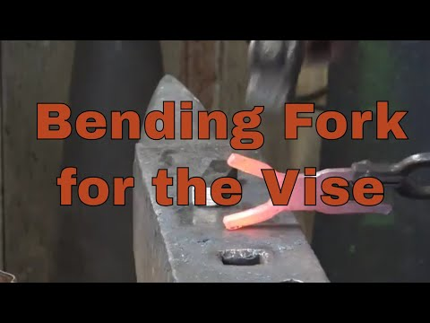 Forging a double ended bending fork for the vise