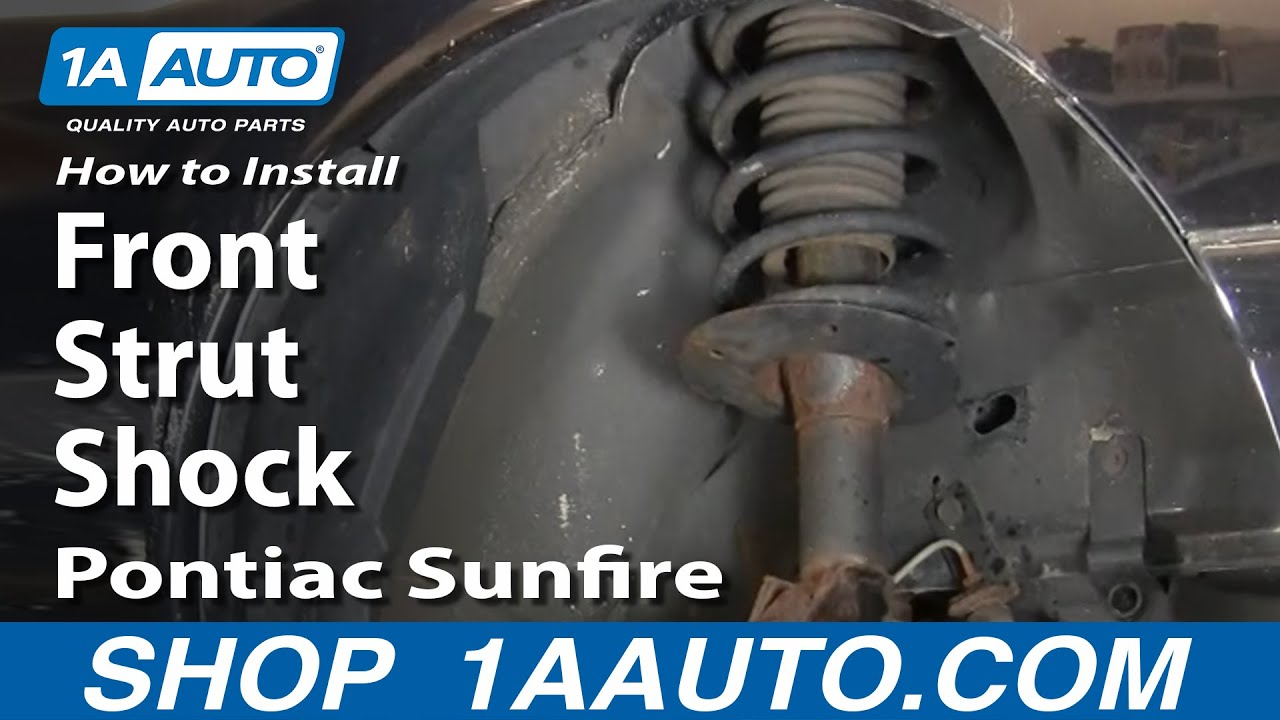 How To Install Replace Front Strut Shock Cavalier Sunfire 95 05 Belt Diagram 1994 Pontiac Sunbird 1aautocom Youtube