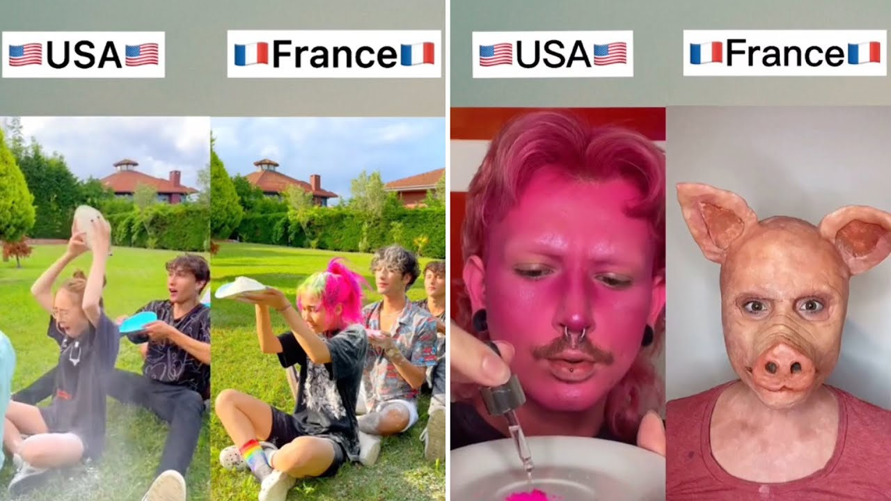 🔥 Battles Between the US and France on the Social Media ✅3    TikTok Compilation
