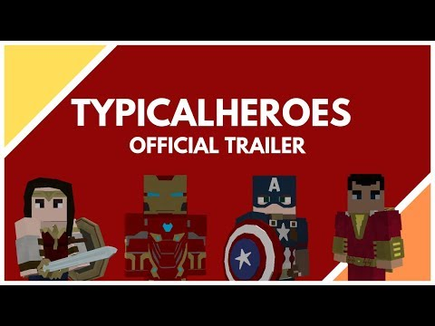 TypicalHeroes Official Trailer   Superheroes in Minecraft