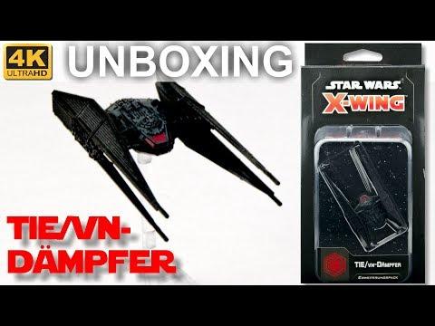 Star Wars X-Wing 2. Edition: TIE/vn-Dämpfer - WELLE 4 - Unboxing - TIE/vn Silencer (4K)