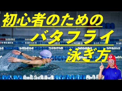バタフライの泳ぎ方(水中映像)初心者向けに解説