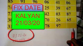 KALYAN MATKA 21/03/2020 TODAY SATTA MATKA TABLE CHART OPEN TO CLOSE NUMBER TRICKS