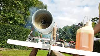 RC Turbofan TF200-1 prototype: One of the first functional tests