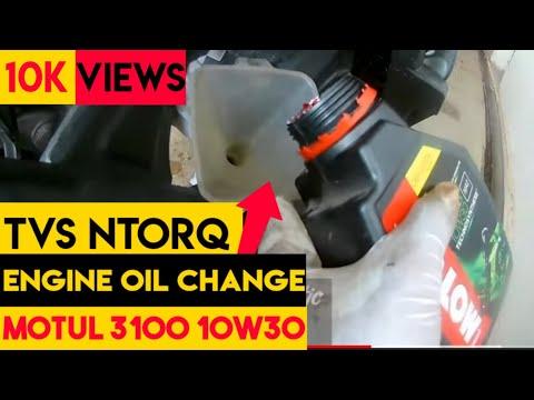 Tvs #ntorq   engine oil change   #motul   #castrolgearoil