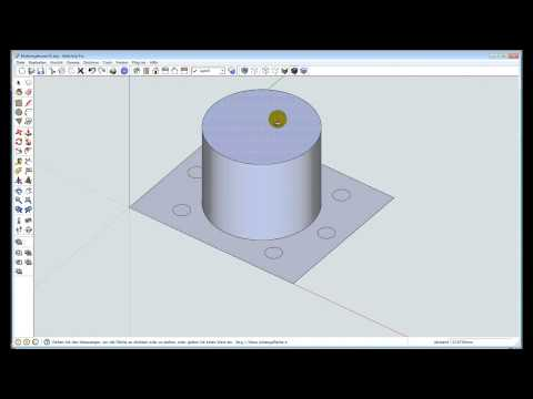 Sketchup-Training 001 - CAD, Mutterngehäuse zeichnen