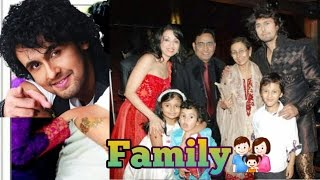 indian singer sonu nigam family with wife madhurima nigam father agam kumar nigam son