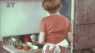 1950s Household Montage; Cooking and Laundry