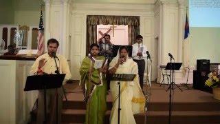 christian telugu song    yesu chavonde siluvapai nee korake    utccnj choir    april 2016