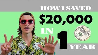 How To Save Money FAST | 7 Steps To Save Over $20,000 In 1 Year