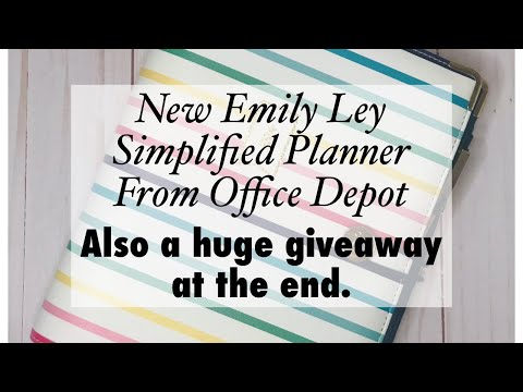Brand New Emily Ley/Office Depot Simplified Ring Planner | Huge Giveaway!!!