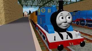 Thomas y la escena de apertura del ferrocarril mágico Roblox