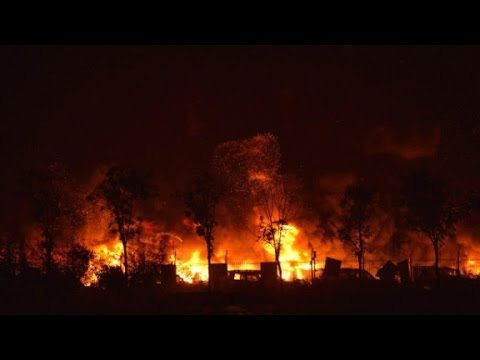 Video shows deadly explosions in Tianjin, China