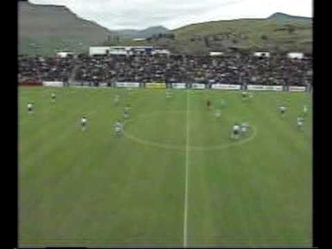 Faroes - Bosnia 2-2. Euro-2000 qualifiers. 1st half. Best ever Faroese display