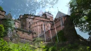 Castillo de Haut Koenigsbourg en Alsacia (Francia)