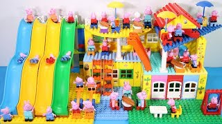 Peppa Pig Lego House Creations With Water Slide Toys For Kids #8