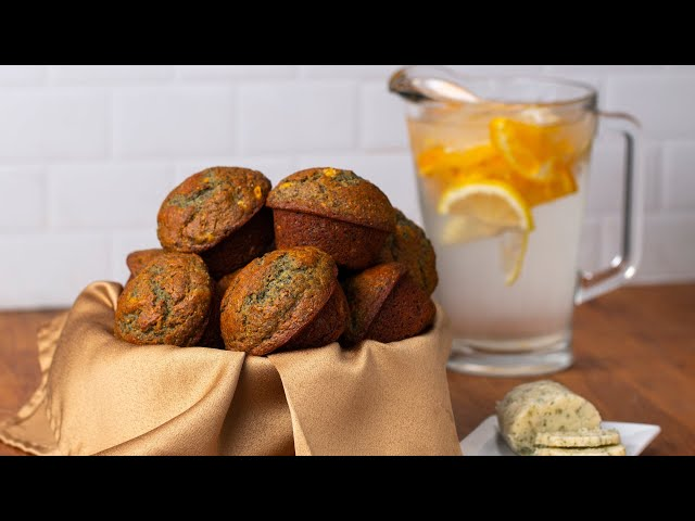 Blue Corn Cornbread Muffins With Herbed Honey Butter • Tasty