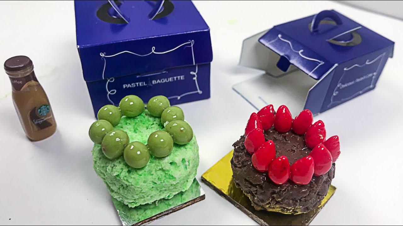 스톱모션 미니어처 - 파리바게트 케이크 PARISBAGUETTE CAKE 만들기/ Stop Motion Miniature & ASMR