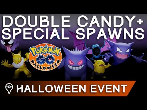 HALLOWEEN EVENT - DOUBLE CANDY AND SPECIAL SPAWNS IN POKÉMON GO