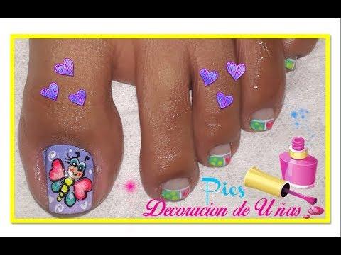 Diseño De Uñas Pies Hermosanail Design Feet Beautiful Youtube