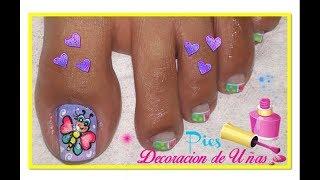 ♥Diseño De Uñas Pies Hermosa♥/Nail Design Feet Beautiful