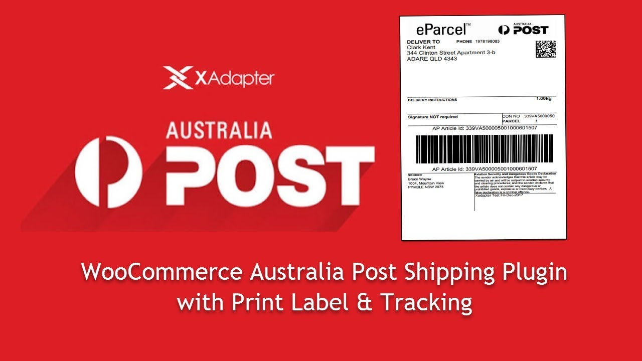 Woocommerce Australia Post Shipping Plugin With Print Label Tracking