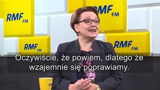 """Półtora roku czy półtorej roku""""?  Zalewska zapowiada, że zwróci uwagę Morawieckiemu"""