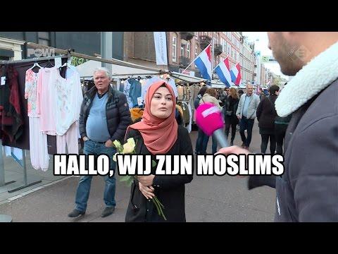 Moslims delen rozen uit  YouTube