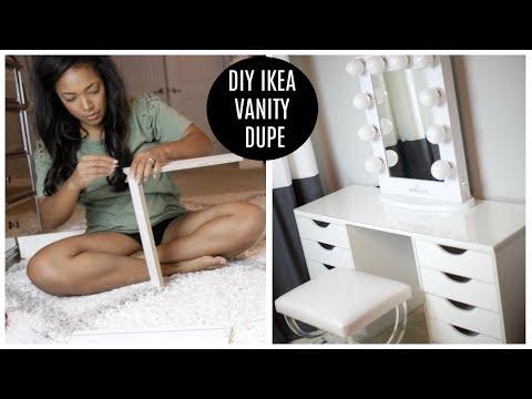 DIY IKEA VANITY DUPE