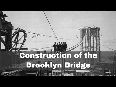 3rd January 1870: Construction of the Brooklyn Bridge began
