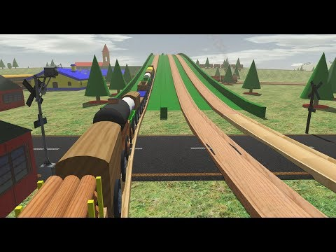 Trainz 2019: Largest Wooden Toy Freight Train Ever |