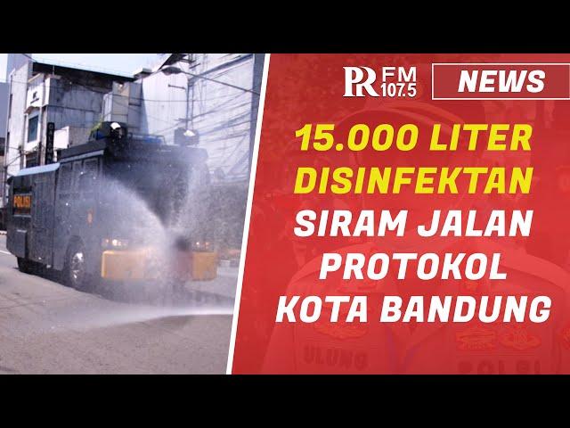Jalan Protokol di Kota Bandung Disemprot Disinfektan