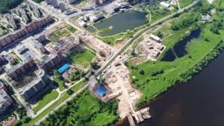 Строительство моста в Дубне, часть 4 ... DJI Inspire 2 с Zenmuse x4s