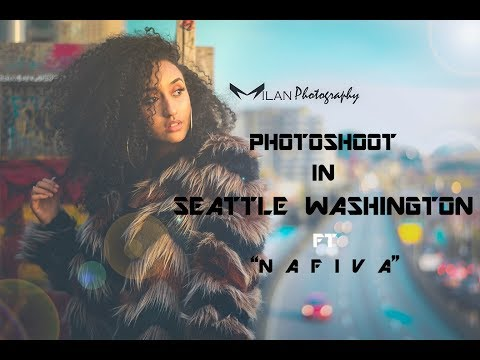 Photoshoot Videoclip in Seattle Washington Model- Nafiva