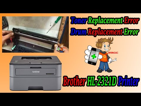 How to Solve Brother Printer HL 2321D Toner, Drum Replace Light Blinking,  Drum Reset Error in Hindi