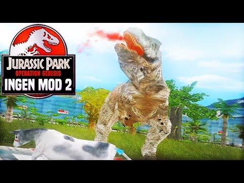 MAPUSAURUS GOES HUNTING   Jurassic Park: Operation Genesis - InGen Mod 2 (Part 3)
