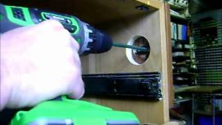 Install Simple Lock On Wood Cab With Thick Side Panel