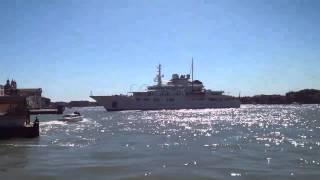 TATOOSH  mega Yacht di lusso salpa da  Venezia 16/04/2014