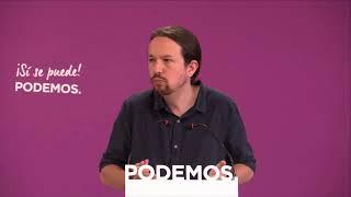 Rueda de prensa de Pablo Iglesias