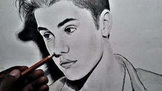 HOW TO DRAW: Justin Bieber (with pencils)