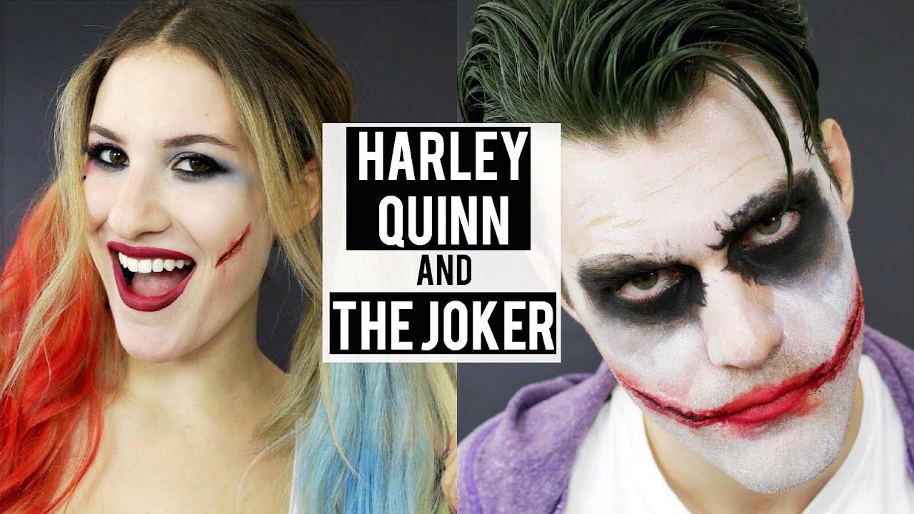 HARLEY QUINN + THE JOKER Halloween Makeup Tutorial   Couples ...