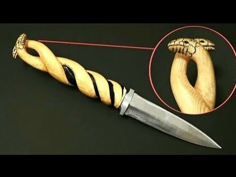 Cheap Amazon Knife Handle Modification w/ Two Snake Heads | Transform Your Knife DIY