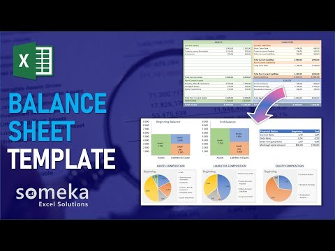 Balance Sheet Template | How To Create Balance Sheet In Excel!