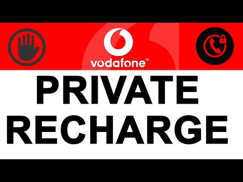 Vodafone Private Recharge Mode (PRM) in INDIA | How To Get PRIVATE Number | Good News For GIRLS